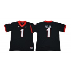 Men Georgia Bulldogs 1 Fields Black NCAA Jerseys