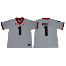 Men Georgia Bulldogs 1 Fields Legend White NCAA Jerseys