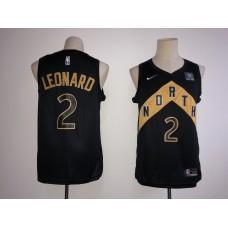 Men Toronto Raptors 2 Leonard Black City Edition Nike NBA Jerseys