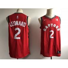 Men Toronto Raptors 2 Leonard Red Game NBA Nike Jerseys