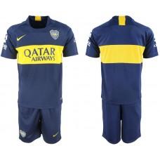 Men 2018-2019 club Boca Juniors home blank blue soccer jersey