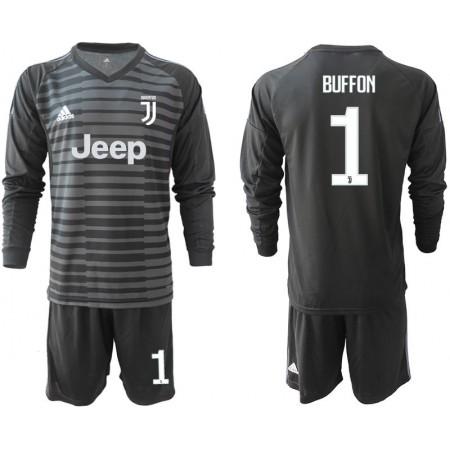 Men 2018-2019 club Juventus Goalkeeper Long sleeve 1 black soccer jerseys1