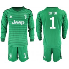 Men 2018-2019 club Juventus Goalkeeper Long sleeve 1 green soccer jerseys1