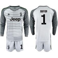 Men 2018-2019 club Juventus Goalkeeper Long sleeve 1 grey soccer jerseys1