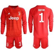 Men 2018-2019 club Juventus Goalkeeper Long sleeve 1 red soccer jerseys1
