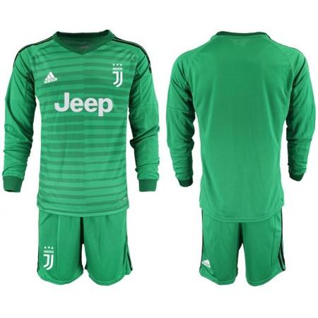 Men 2018-2019 club Juventus Goalkeeper Long sleeve blank green soccer jerseys
