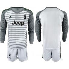 Men 2018-2019 club Juventus Goalkeeper Long sleeve blank grey soccer jerseys