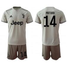 Men 2018-2019 club Juventus away 14 grey Soccer Jerseys