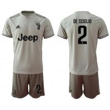 Men 2018-2019 club Juventus away 2 grey Soccer Jerseys