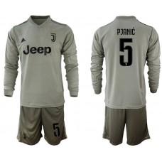 Men 2018-2019 club Juventus away Long sleeve 5 grey soccer jerseys