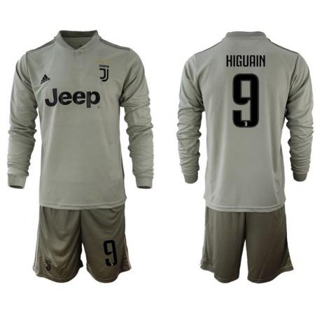 Men 2018-2019 club Juventus away Long sleeve 9 grey soccer jerseys