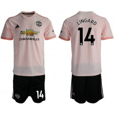 Men 2018-2019 club Manchester united away 14 pink soccer jersey