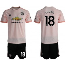 Men 2018-2019 club Manchester united away 18 pink soccer jersey