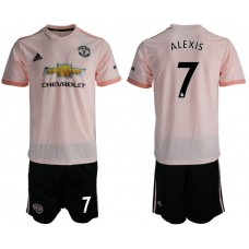 Men 2018-2019 club Manchester united away 7 pink soccer jersey