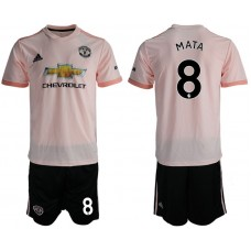 Men 2018-2019 club Manchester united away 8 pink soccer jersey