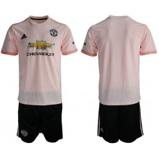 Men 2018-2019 club Manchester united away pink soccer jersey