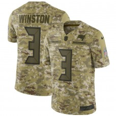 Men Tampa Bay Buccaneers 3 Winston Nike Camo Salute to Service Retired Player Limited NFL Jerseys