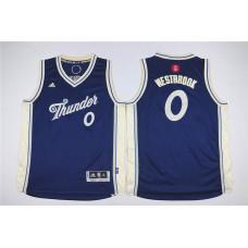 Youth Oklahoma City Thunder 0 Westbrook blue Game Nike NBA Jerseys