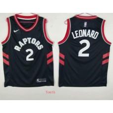 Youth Toronto Raptors 2 Leonard Black Game Nike NBA Jerseys