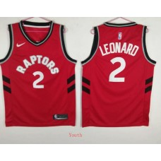 Youth Toronto Raptors 2 Leonard Red Game Nike NBA Jerseys