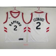 Youth Toronto Raptors 2 Leonard White Game Nike NBA Jerseys