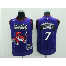 Youth Toronto Raptors 7 Lowry purple Game Nike NBA Jerseys