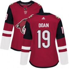 Adidas Arizona Coyotes 19 Shane Doan Maroon Home Authentic Women Stitched NHL Jersey