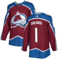 Adidas Colorado Avalanche 1 Semyon Varlamov Burgundy Home Authentic Stitched Youth NHL Jersey