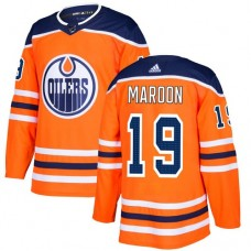 Adidas Edmonton Oilers 19 Patrick Maroon Orange Home Authentic Stitched Youth NHL Jersey