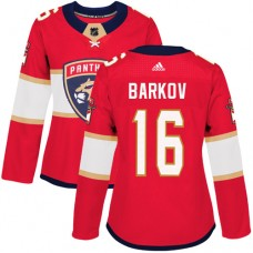 Adidas Florida Panthers 16 Aleksander Barkov Red Home Authentic Women Stitched NHL Jersey
