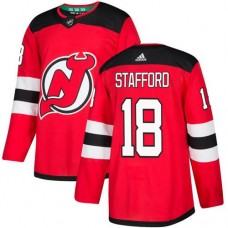 Adidas Men New Jersey Devils 18 Drew Stafford Red Home Authentic Stitched NHL Jersey
