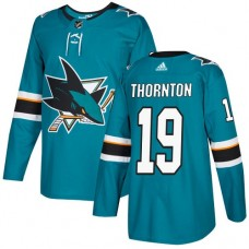 Adidas Men San Jose Sharks 19 Joe Thornton Teal Home Authentic Stitched NHL Jersey