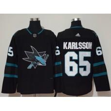 Adidas Men San Jose Sharks 65 Erik Karlsson Black Alternate Authentic Stitched NHL Jersey