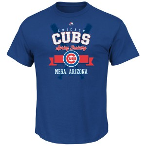 MLB Men Chicago Cubs Majestic 2016 Heart and Soul Spring Training TShirt  Royal