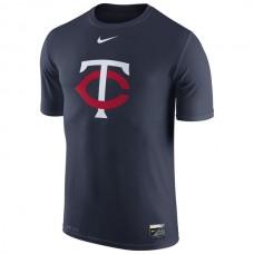 MLB Men Minnesota Twins Nike Authentic Collection Legend Logo 1.5 Performance TShirt  Navy