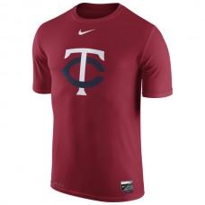 MLB Men Minnesota Twins Nike Authentic Collection Legend Logo 1.5 Performance TShirt  Red