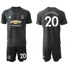 Men 2018-2019 club Manchester United black goalkeeper 20 Soccer Jerseys