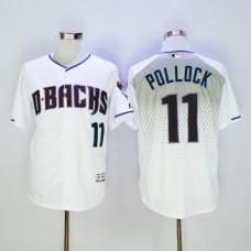 Men Arizona Diamondback 11 Pollock White MLB Jerseys
