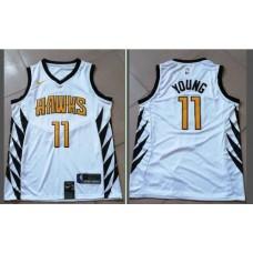 Men Atlanta Hawks 11 Young White City Edition Game Nike NBA Jerseys