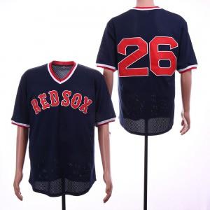 Men Boston Red Sox 26 Boggs Blue Throwback MLB Jerseys