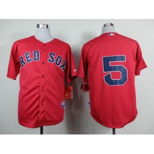 Men Boston Red Sox 5 Garciaparra Red MLB Jerseys1