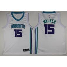 Men Charlotte Hornets 15 Kemba Walker White Swingman Edition NBA Jersey