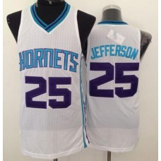 Men Charlotte Hornets 25 Al Jefferson White Throwback Stitched NBA Jersey