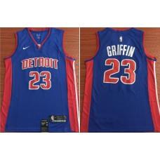 Men Detroit Pistons 23 Griffin Blue Nike Game NBA Jerseys