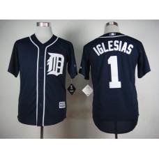 Men Detroit Tigers 1 Iglesias Blue MLB Jerseys