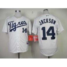 Men Detroit Tigers 14 Jackson White MLB Jerseys