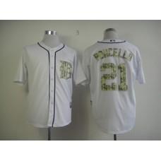 Men Detroit Tigers 21 Porcello White Camo MLB Jerseys