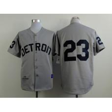 Men Detroit Tigers 23 Gibson Grey MLB Jerseys