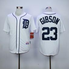 Men Detroit Tigers 23 Gibson White MLB Jerseys