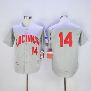 Men MLB Cincinnati Reds 14 Rose Grey throwback 1969 jerseys